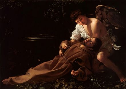 Caravaggio, Michelangelo Merisi da: Saint Francis of Assisi in Ecstasy. Fine Art Print/Poster. Sizes: A4/A3/A2/A1 (002082)